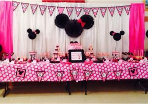Minnie Mouse 1st Birthday Decoration Ideas Party Project Nursery