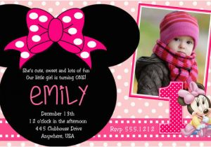 Minnie Mouse 1st Birthday Invitation Wording 2nd Party Free
