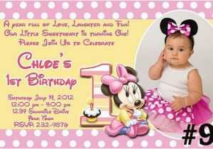 Minnie Mouse 1st Birthday Invitations Online Free Download