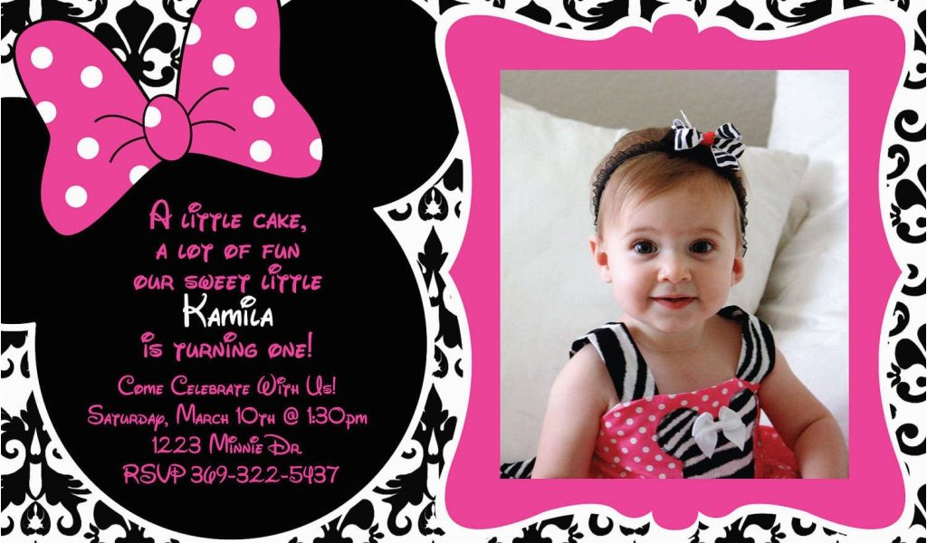 Download By SizeHandphone Tablet Desktop Original Size Back To Minnie Mouse 1st Birthday Invitations Online