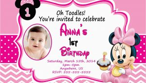 Minnie Mouse 1st Birthday Invitations Printable Baby Minnie Mouse 1st Birthday Invitations Dolanpedia