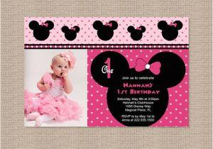 Minnie Mouse 1st Birthday Invitations Printable Free