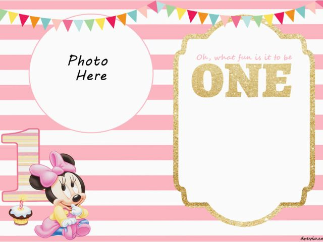 Download By SizeHandphone Tablet Desktop Original Size Back To Minnie Mouse 1st Birthday Invitations Printable