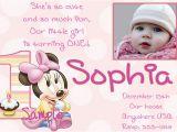 Minnie Mouse 1st Birthday Invites 1st Birthday Invitation Minnie Mouse 365greetings Com