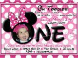 Minnie Mouse 1st Birthday Invites 1st Birthday Invitations Minnie Mouse Drevio Invitations