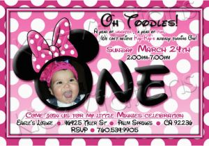 Minnie Mouse 1st Birthday Invites 1st Birthday Invitations Minnie Mouse Drevio Invitations