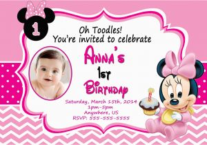 Minnie Mouse 1st Birthday Invites Baby Minnie Mouse 1st Birthday Invitations Dolanpedia