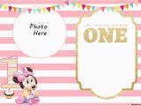 Minnie Mouse 1st Birthday Invites Free Printable Minnie Mouse 1st Invitation Templates