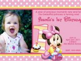Minnie Mouse 1st Birthday Invites Minnie Mouse 1st Birthday Invitations Ideas Bagvania