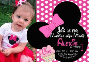 Minnie Mouse 1st Birthday Invites Minnie Mouse First Birthday Invitations Drevio