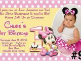 Minnie Mouse 1st Birthday Personalized Invitations Free Download Minnie Mouse 1st Birthday Invitations
