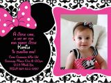 Minnie Mouse 1st Birthday Personalized Invitations Free Printable 1st Birthday Minnie Mouse Invitation