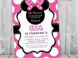 Minnie Mouse 1st Birthday Personalized Invitations Minnie Mouse 1st Birthday Invitations Printable Girls Party