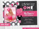 Minnie Mouse 1st Birthday Personalized Invitations Minnie Mouse Birthday Invitation Minnie Mouse Inspired