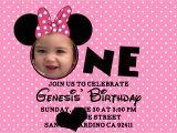 Minnie Mouse 1st Birthday Personalized Invitations Minnie Mouse Birthday Invitations Personalized Bagvania