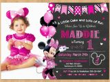 Minnie Mouse 1st Birthday Personalized Invitations Minnie Mouse Invitation Minnie Mouse 1st Birthday First Bday