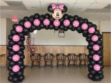 Minnie Mouse Birthday Balloon Decorations Mickey Minnie Mouse Party theme Mickey Mouse Balloons