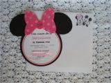 Minnie Mouse Birthday Invitations Diy Creative Trendz Design Minnie Mouse Birthday Invitation