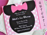 Minnie Mouse Birthday Invitations Diy Homemade Minnie Mouse Invitations Template Resume Builder