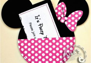 Minnie Mouse Birthday Invitations Diy Minnie Mouse Photo First