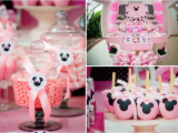 Minnie Mouse Birthday Party Decoration Ideas Disney Minnie Mouse Girl Pink themed Birthday Party