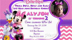 Minnie Mouse Bowtique Birthday Invitations Minnie Mouse Bowtique Birthday Party Invitations Ebay
