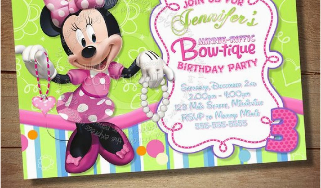 Download By SizeHandphone Tablet Desktop Original Size Back To Minnie Mouse Bowtique Birthday Invitations