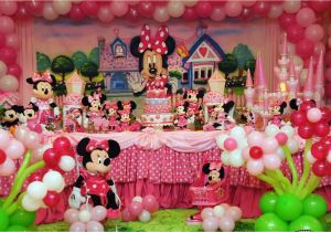 Minnie Mouse Decoration For Birthday Party Custom Invitation Templates Free
