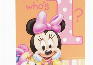 Minnie Mouse Decorations for 1st Birthday Disney Minnie Mouse 1st Birthday 8 Invitations