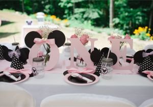 Minnie Mouse Decorations for 1st Birthday Light Pink Minnie Mouse First Birthday Party