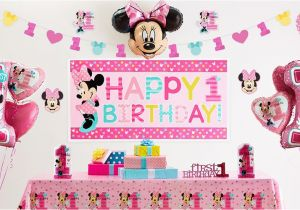 Minnie Mouse Decorations For 1st Birthday Party Supplies City