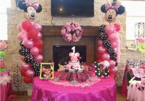 Minnie Mouse Decorations for 1st Birthday Minnie Mouse Birthday Quot Ellie 39 S 1st Birthday Celebration