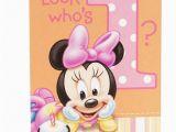 Minnie Mouse First Birthday Invites Disney Minnie Mouse 1st Birthday 8 Invitations with