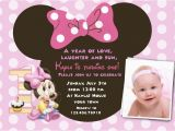 Minnie Mouse First Birthday Invites Free Download Minnie Mouse 1st Birthday Invitations