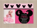 Minnie Mouse First Birthday Invites Free Printable Minnie Mouse 1st Birthday Invitations