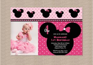 Minnie Mouse First Birthday Invites Free Printable 1st Invitations