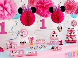 Minnie Mouse First Birthday Party Decorations Minnie Mouse 1st Birthday Party Supplies Party City