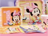 Minnie Mouse First Birthday Party Decorations Minnie Mouse First Birthday Partyware Disney Baby