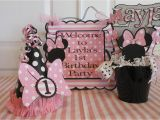 Minnie Mouse First Birthday Party Decorations Minnie Mouse Polka Dot 1st Birthday Party by asweetcelebration