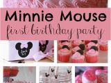 Minnie Mouse First Birthday Party Decorations Sweet Minnie Mouse First Birthday Pretty My Party