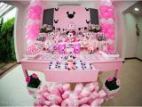 Minnie Mouse themed Birthday Party Decorations Kara 39 S Party Ideas Disney Minnie Mouse Girl Pink themed