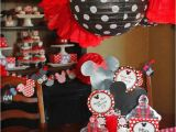 Minnie Mouse themed Birthday Party Decorations Kara 39 S Party Ideas Mickey Minnie Mouse themed First