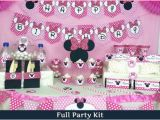 Minnie Mouse themed Birthday Party Decorations Minnie Mouse Birthday Party Ideas Pink Lover
