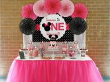 Minnie Mouse themed Birthday Party Decorations Minnie Mouse First Birthday Party Little Wish Parties