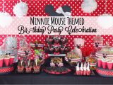 Minnie Mouse themed Birthday Party Decorations Minnie Mouse themed Birthday Party Celebration Disney