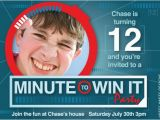 Minute to Win It Birthday Party Invitations Minute to Win It Birthday Invitation by Beeskneesdesignshop