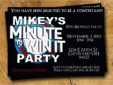 Minute to Win It Birthday Party Invitations Minute to Win It Birthday Party Invite 4×6 or 5×7 by