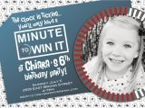 Minute to Win It Birthday Party Invitations Minute to Win It or Poker Vegas Party Invite with Photo by