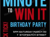Minute to Win It Birthday Party Invitations Minute to Win It Party Invitations Go Shorty It 39 S Your