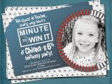Minute to Win It Birthday Party Invitations Minute to Win It Party Invite Photo Optional Fun for Big